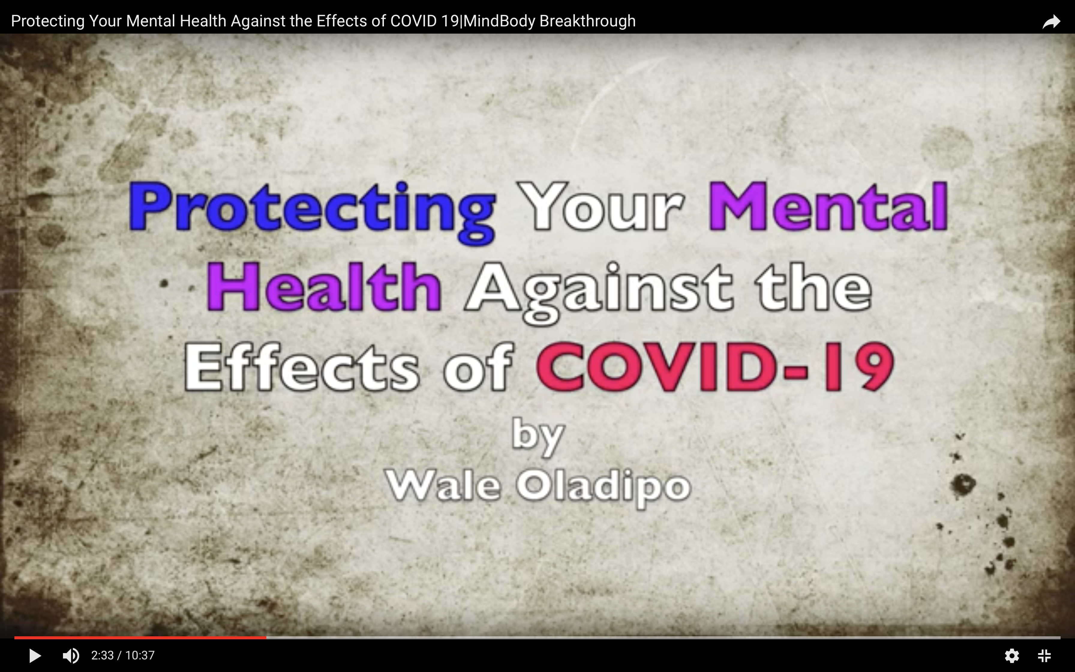 Protecting Your Mental Health Against the Effects of COVID-19|MindBody Breakthrough